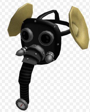 roblox gas mask hat id